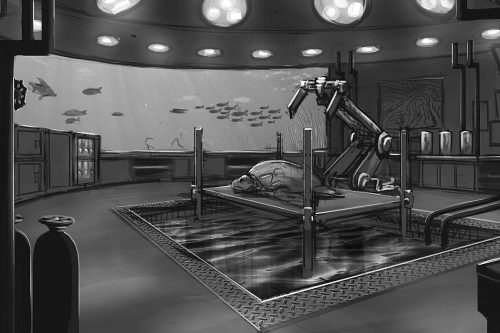 Turtle research lab concept